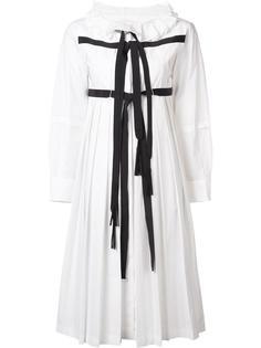 плиссированное платье  с контрастными лямками Tsumori Chisato