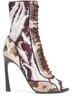 ботинки с эффектом змеиной кожи Giambattista Valli