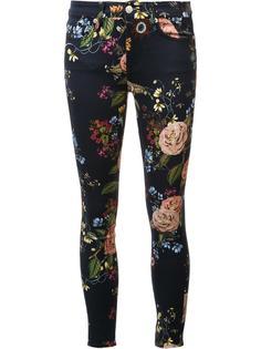 укороченные джинсы с цветочным принтом 7 For All Mankind