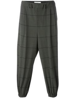 полосатые брюки с эластичными щиколотками Lucio Vanotti