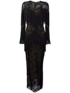 длинное платье с бахромой Zuhair Murad