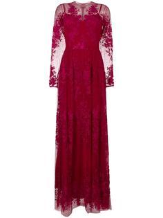 вечернее кружевное платье Zuhair Murad