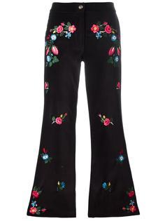 расклешенные брюки с вышивкой Vivetta