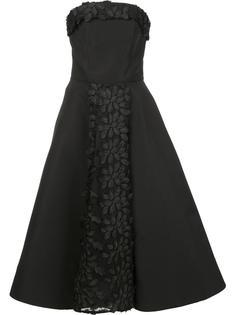вечернее платье без бретелек Christian Siriano