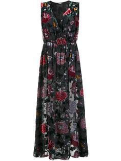 платье с глубоким V-образным вырезом Adam Lippes