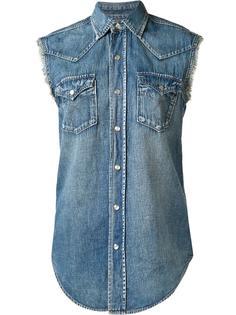 джинсовая рубашка без рукавов Saint Laurent