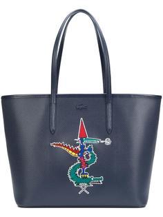 сумка-тоут с элементом крокодила Lacoste