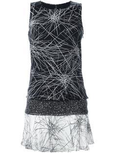расклешенное платье с абстрактным принтом Diane Von Furstenberg