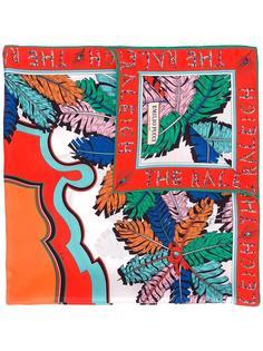 шарф с растительным принтом Emilio Pucci