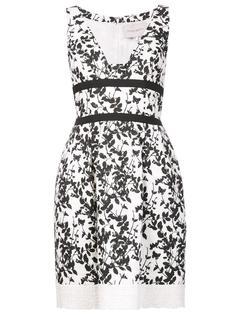 платье с цветочным узором Carolina Herrera