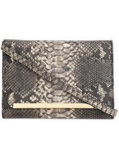 сумка-тоут с эффектом змеиной кожи Christian Siriano