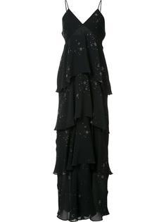 многоярусное платье с принтом звезд A.L.C.