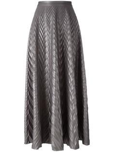 плиссированная юбка с узором-елочкой Golden Goose Deluxe Brand