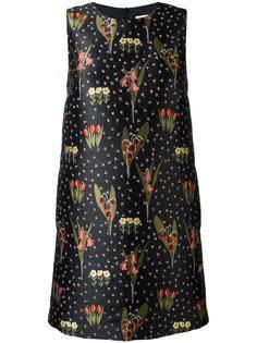платье шифт с цветочным узором Red Valentino