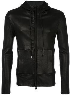 кожаная куртка с капюшоном Giorgio Brato