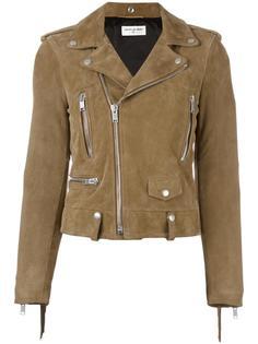 классическая байкерская куртка с бахромой Saint Laurent