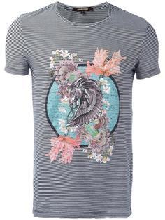 полосатая футболка с принтом пегаса Roberto Cavalli