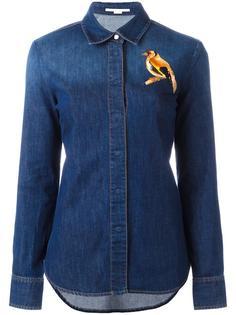 джинсовая рубашка с вышивкой птицы Stella McCartney