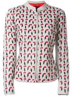 кожаная куртка с плетеным дизайном Giorgio Armani