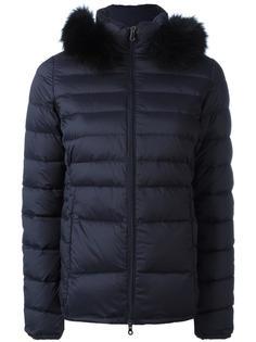 куртка-пуховик с меховой оторочкой Duvetica