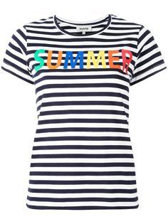 полосатая футболка с принтом Summer Yazbukey
