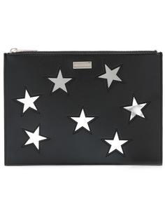 клатч с вышитыми звездами Stella McCartney