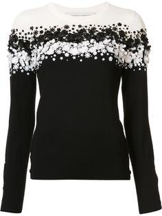 пуловер с пайетками Carolina Herrera