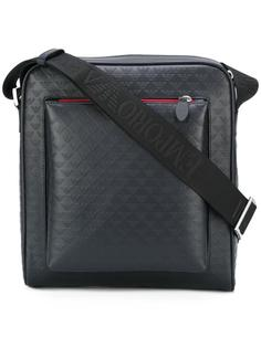 сумка-мессенджер с тиснением логотипа Emporio Armani