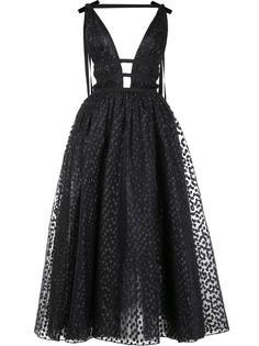 расклешенное платье макси с пайетками Carolina Herrera