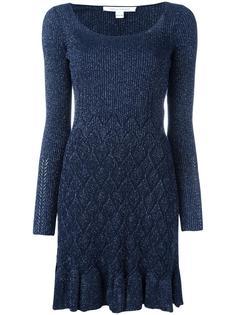 платье с отделкой в рубчик Diane Von Furstenberg