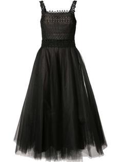 расклешенное тюлевое платье  Marchesa Notte