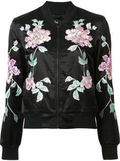 куртка с цветочной вышивкой 3X1