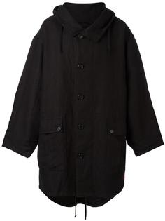 пальто свободного кроя с капюшоном Ann Demeulemeester Blanche