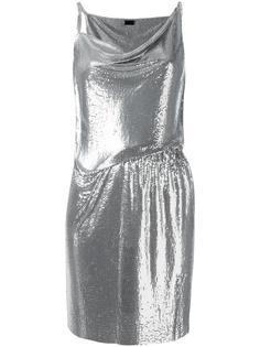 мини-платье с драпировками Paco Rabanne
