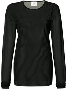 прозрачная футболка с длинными рукавами Just Female