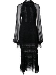 кружевное платье с прозрачными рукавами Jonathan Simkhai