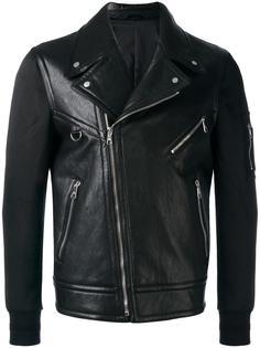 байкерская куртка с контрастными вставками Neil Barrett