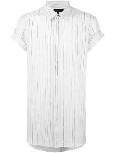 полосатая рубашка с короткими рукавами Ann Demeulemeester Grise