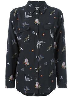 рубашка с принтом птиц Equipment