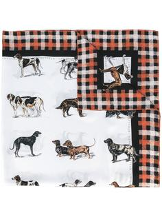 шарф с рисунком Dog Tartan Stella McCartney