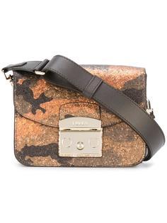 сумка с камуфляжным рисунком и мелкими блестками Furla