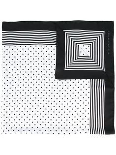шарф с узорами из точек и полосок Stella McCartney