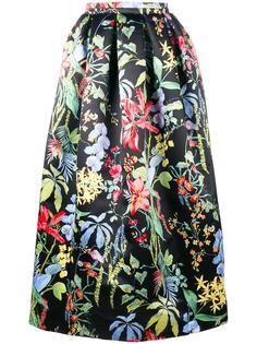 юбка с рисунком в виде тропических цветов Rochas