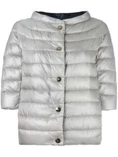 куртка-пуховик с высокой горловиной и рукавами три четверти Herno
