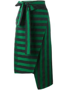 полосатая асимметричная юбка Rochas