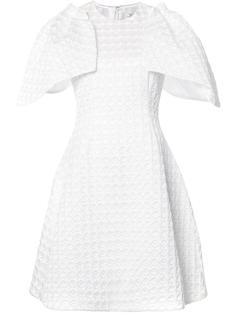 фактурное платье с объемными рукавами Christian Siriano