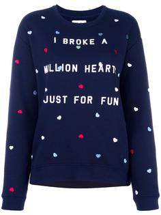 heart embroidery sweatshirt Zoe Karssen