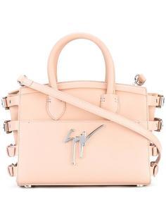 сумка-тоут с ремешками на пряжках Giuseppe Zanotti Design