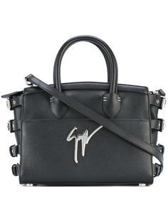 сумка-тоут с лямками на пряжках Giuseppe Zanotti Design