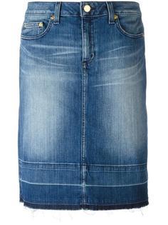 джинсовая юбка с потертой отделкой Michael Michael Kors